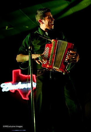 Percy on the accordian, caputed with stage light only (ambient light).